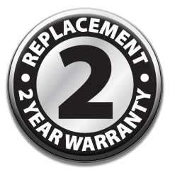 2 Year Replacement Warranty