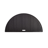 BigJoe Half Moon Cast Iron Reversible Griddle Plate
