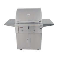 "Deluxe 30"" Charcoal BBQ on Cart"