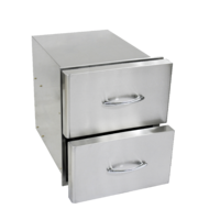 Stainless steel double drawers