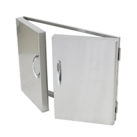 Stainless steel double door