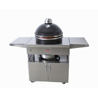 Grandfire Kamado on Deluxe SS table