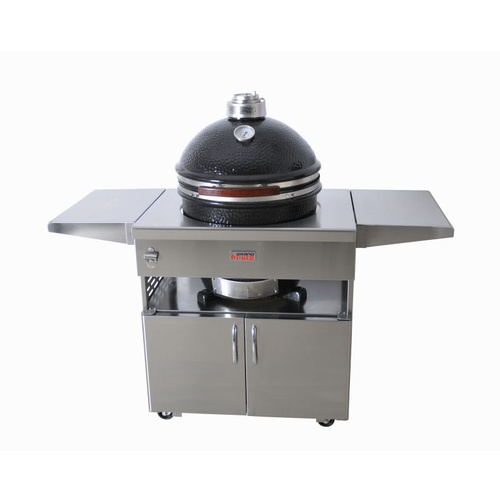 Grandfire Kamado on SS table for Deluxe Series