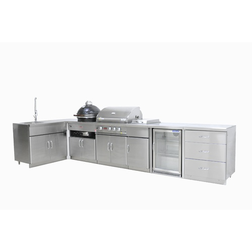 Outdoor Kitchen Package with Single Fridge