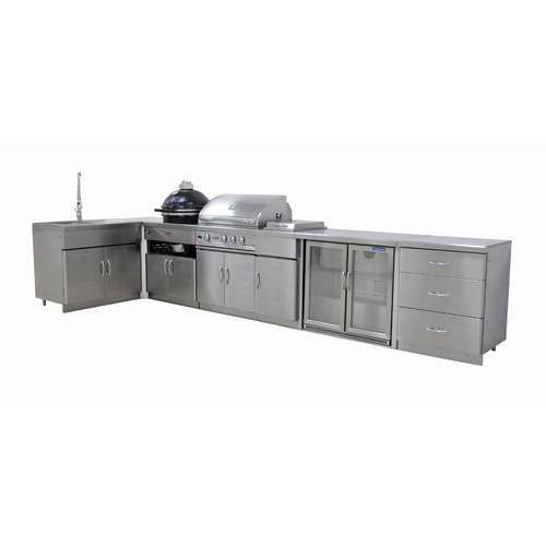Outdoor Kitchen Package with Double Fridge
